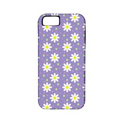 Daisy Dots Violet Apple Iphone 5 Classic Hardshell Case (pc+silicone)