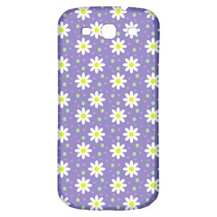 Daisy Dots Violet Samsung Galaxy S3 S Iii Classic Hardshell Back Case