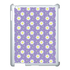 Daisy Dots Violet Apple Ipad 3/4 Case (white)