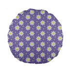 Daisy Dots Violet Standard 15  Premium Round Cushions Front