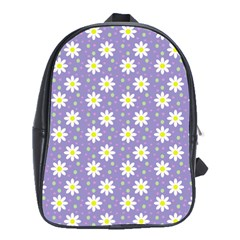 Daisy Dots Violet School Bag (xl)