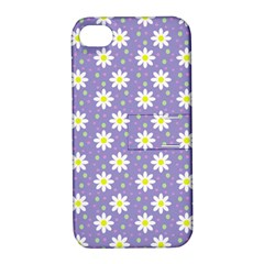 Daisy Dots Violet Apple Iphone 4/4s Hardshell Case With Stand