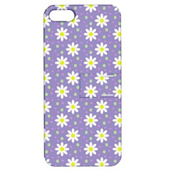 Daisy Dots Violet Apple Iphone 5 Hardshell Case With Stand