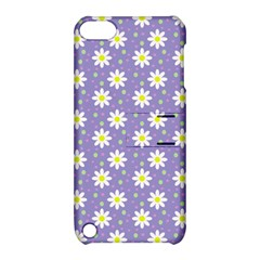Daisy Dots Violet Apple Ipod Touch 5 Hardshell Case With Stand