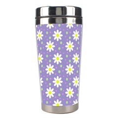 Daisy Dots Violet Stainless Steel Travel Tumblers