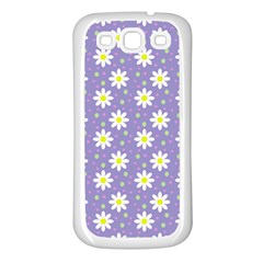 Daisy Dots Violet Samsung Galaxy S3 Back Case (white)