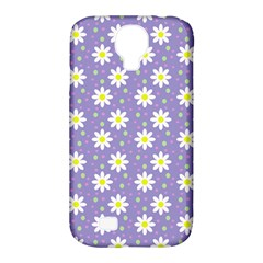 Daisy Dots Violet Samsung Galaxy S4 Classic Hardshell Case (pc+silicone)
