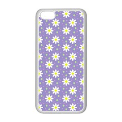 Daisy Dots Violet Apple Iphone 5c Seamless Case (white)