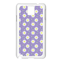 Daisy Dots Violet Samsung Galaxy Note 3 N9005 Case (white)