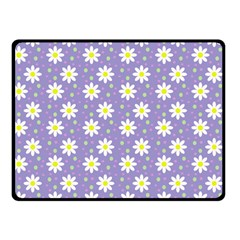 Daisy Dots Violet Double Sided Fleece Blanket (small)