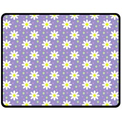 Daisy Dots Violet Double Sided Fleece Blanket (medium)