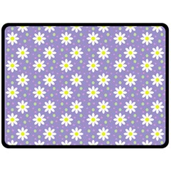Daisy Dots Violet Double Sided Fleece Blanket (large)