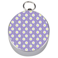 Daisy Dots Violet Silver Compasses