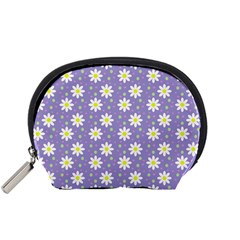 Daisy Dots Violet Accessory Pouches (small)