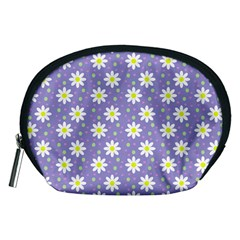 Daisy Dots Violet Accessory Pouches (medium)