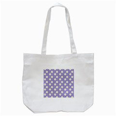 Daisy Dots Violet Tote Bag (white)