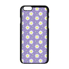 Daisy Dots Violet Apple Iphone 6/6s Black Enamel Case