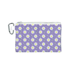 Daisy Dots Violet Canvas Cosmetic Bag (s)
