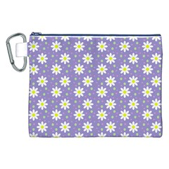 Daisy Dots Violet Canvas Cosmetic Bag (xxl)