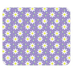 Daisy Dots Violet Double Sided Flano Blanket (small)