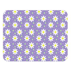 Daisy Dots Violet Double Sided Flano Blanket (large)