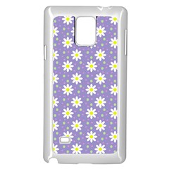 Daisy Dots Violet Samsung Galaxy Note 4 Case (white)
