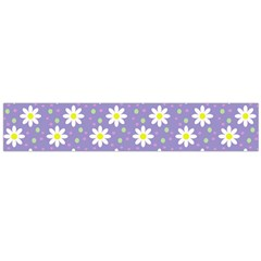 Daisy Dots Violet Large Flano Scarf