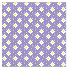Daisy Dots Violet Large Satin Scarf (square)