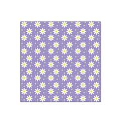 Daisy Dots Violet Satin Bandana Scarf