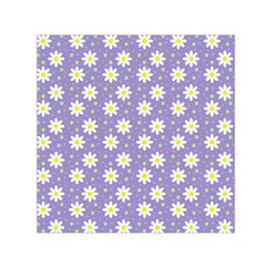 Daisy Dots Violet Small Satin Scarf (square)