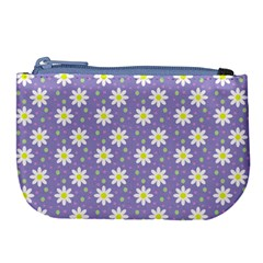 Daisy Dots Violet Large Coin Purse