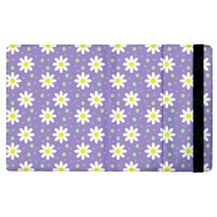 Daisy Dots Violet Apple Ipad Pro 9 7   Flip Case