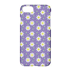 Daisy Dots Violet Apple Iphone 7 Hardshell Case