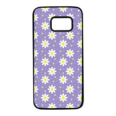 Daisy Dots Violet Samsung Galaxy S7 Black Seamless Case