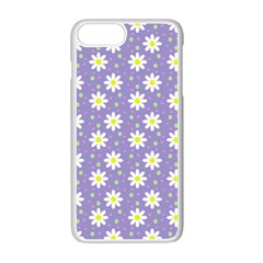 Daisy Dots Violet Apple Iphone 7 Plus Seamless Case (white)