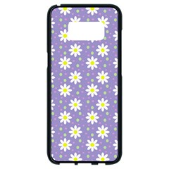 Daisy Dots Violet Samsung Galaxy S8 Black Seamless Case