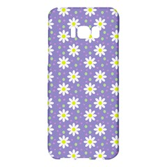 Daisy Dots Violet Samsung Galaxy S8 Plus Hardshell Case
