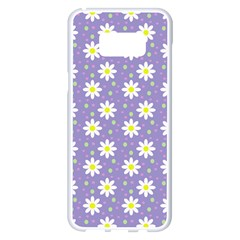 Daisy Dots Violet Samsung Galaxy S8 Plus White Seamless Case