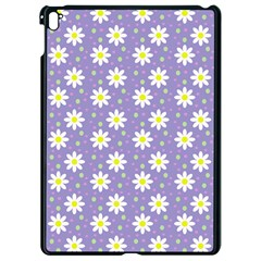 Daisy Dots Violet Apple Ipad Pro 9 7   Black Seamless Case