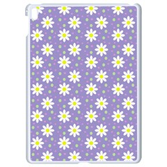 Daisy Dots Violet Apple Ipad Pro 9 7   White Seamless Case