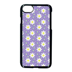 Daisy Dots Violet Apple Iphone 8 Seamless Case (black)