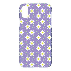 Daisy Dots Violet Apple Iphone X Hardshell Case