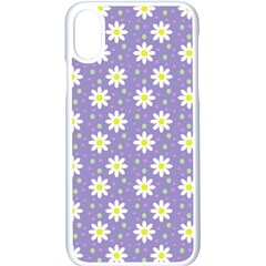 Daisy Dots Violet Apple Iphone X Seamless Case (white)