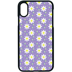 Daisy Dots Violet Apple Iphone X Seamless Case (black)