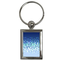 Blue Disintegrate Key Chains (rectangle)