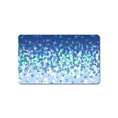 Blue Disintegrate Magnet (name Card)