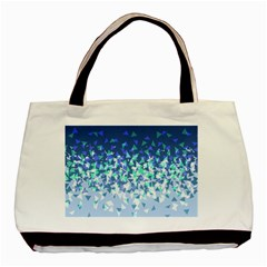Blue Disintegrate Basic Tote Bag (two Sides)