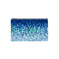Blue Disintegrate Cosmetic Bag (small)