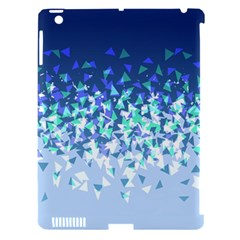 Blue Disintegrate Apple Ipad 3/4 Hardshell Case (compatible With Smart Cover)