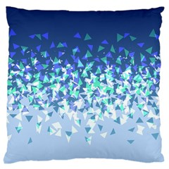 Blue Disintegrate Large Cushion Case (one Side)